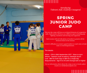 Taketani Junior Judo Camp @ Taketani Judo Academy | Oakleigh South | Victoria | Australia